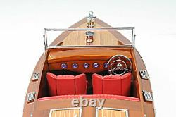 Chris Craft Runabout Wood Modèle 24 Classic Ahogany Racing Speed Boat Nouveau
