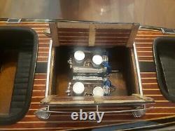 Chris Craft Triple Cockpit Speed Boat 25 Modèle En Bois Par Des Modèles Authentiques
