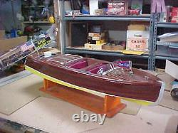 Chris Craft Triple Cockpit Speed Boat En Bois 41 Pouces Modèle R/c Boat