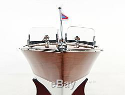Chris Craft Triple Cockpit Speed boat Modèle En Bois 24 Runabout Nouveau
