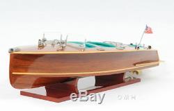 Chris Craft Triple Cockpit Speed boat Modèle En Bois 32 Handcrafted Vernie