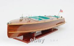 Chris Craft Triple Cockpit Speedboat 32' Wood Model Ship Assemblé