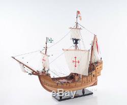 Christophe Colomb Santa Maria Tall Ship 29 Construit En Bois Modèle Bateau Assemblé