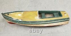 Circa 1920 American Folk Art Ethel Pond Bateau Speedboat Modèle