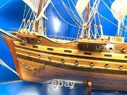 Clipper Ship Nautical Sail Boat Display Model Finished Inlaid Wood 28 Big