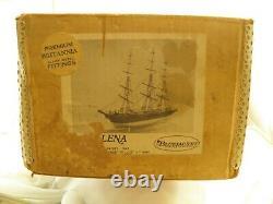 Coffret Bleu Vintage Artisans De Navires Clipper Ship Helena Boat Model Kit Open Box