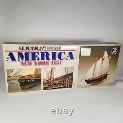 Constructo 1/56 Scale'amérique' New York 1851 P. O. F. Wood Ship Model Kit C. 1987