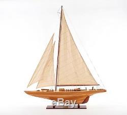 Coupe De L'america 1933, Endeavor Classe J Bateau 40 Construit En Bois Modèle Yacht Assemblé