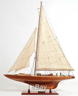 Coupe De L'america 1933, Endeavor Classe J Bateau 60 Modèle Bois Intégré Yacht Assemblé