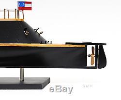 Css Virginia Guerre Civile Navire Confédérée Ironclad 28 Maquette En Bois