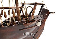 Dhow Bateau Avec Voiles Triangulaire 30.5 Bois Modèle Navire Assemblé