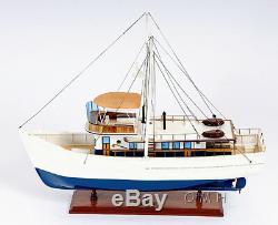 Dickie Walker Trawler Motor Yacht Modèle En Bois 25 Deep Sea Fishing Boat Nouveau