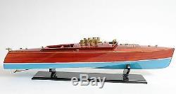 Dixie II American Challenger Speed boat 36 Maquette De Bateau En Bois Assemblé