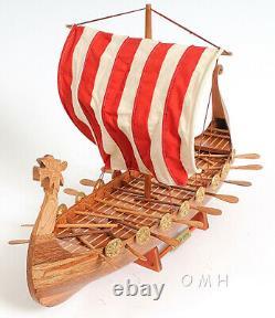 Drakkar Dragon Viking Longship Modèle De Bateau En Bois Bateau 25 Monté Voilier Nouveau