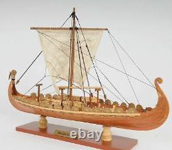 Drakkar Dragon Viking Voilier 15 Wood Model Ship Assemblé