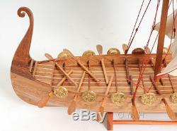 Drakkar Viking Dragon Drakkar Modèle Bateau En Bois Bateau 25 Assemblé Voilier Nouveau