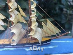 Drapeau Bois Union En Bois Royaume-uni British Marine Navire Bateau Diorama Modèle