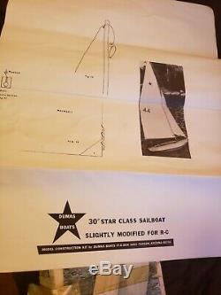 Dumas 30 Star Class Sail Boat Kit Bois Modèle Vintage Rc