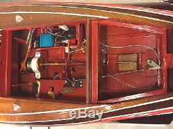 Dumas Chris-craft Runabout Bateau Remote Control Astro-21 Moteur 1938 Modèle # 1241
