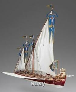 Dusek D015 La Real Plank-on-bulkhead Wood Ship Model Kit 172 Échelle