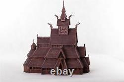 Dusek Norwegian Stave Church Wood Model Kit D010 Échelle 187