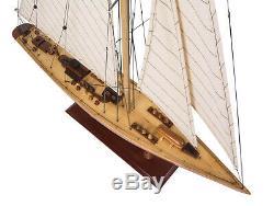Endeavor Classique En Bois Yacht Modèle 24 Americas Cup J Class Bateau Voilier Décor