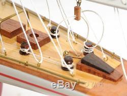 Endeavor Peint Yacht Modèle En Bois 24 Coupe J Class Bateau Voilier De L'amérique