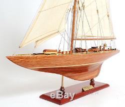 Endeavour America's Cup J Class Yacht Wood Model 24 Boat Sailboat Nouveau
