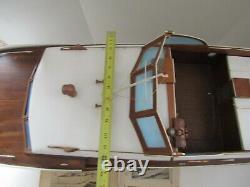 Énorme Bateau Vintage Bateau En Bois En Bois Sterling Model Kit Construit Chris Craft Corvette