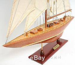 Entreprise 1930 Coupe De L'america J Yacht 25 Bois Modèle Bateau Assemblé