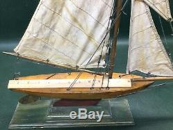 Étang À Voile Antique Modèle Sail Boat Nicely Made