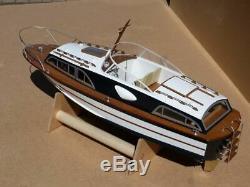 Fairey Huntsman 31 47 Boat Model Kit De Bateau En Bois Lesro Modèles