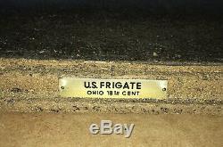 Fait Rare Modèle 1960 Bois Antique Bateau Ohio Frégate Bateau À Voile À La Main