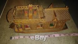 Fait Vintage 1984 Main Bois Cachemire Inde Modèle Boat House Chaku & Sons
