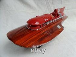 Ferrari Hydroplane 20 Beautiful Wooden Model Boat L50 Noël Livraison Gratuite