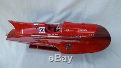 Ferrari Hydroplane 20 Réplique De Bateau En Bois Modèle Bateau En Bois L50 Fait À La Main