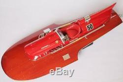 Ferrari Hydroplane 21 (53cm) En Bois, Modèle De Bateau