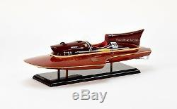 Ferrari Hydroplane 22 En Bois Handcrafted Racing Modèle Bateau