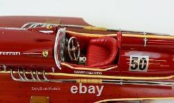 Ferrari Hydroplane 22 Modèle De Bateau De Course En Bois Fabriqué À La Main