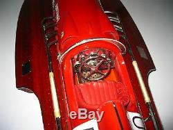 Ferrari Hydroplane Bateau Artisanal En Bois De Haute Qualité De Modèle Artisanal De Haute Qualité 32
