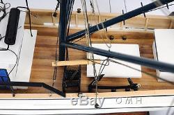 Forrest Gump, Louisiane, Bateau De Pêche Aux Crevettes, Modèle De Bateau En Bois Construit 25, Assemblé