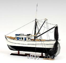 Forrest Gump Louisiane Pêche À La Crevette Bateau 25 Construit En Bois Modèle Navire Assemblé