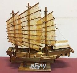 Fortune Red Dragon Clipper Ship 19 En Bois De Teck Modèle Bateau Assemblé Thai Handcraf