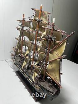 Fragata Espanola Ano 1780 Navire De Guerre Naval Espagnol Replica Sail Boat Model Wood