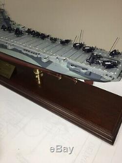 Franklin Mint U. S. S. Cv-10 Yorktown Aircraft Carrier Model Ship