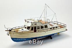 Grand Banks 42 Yacht Fait À La Main En Bois Modèle 38 Rc Ready Top Quality
