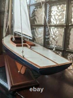 Grand Cru En Bois Creux Bateau Étang Yacht Display Ship Sailboat Modèle- 37x44