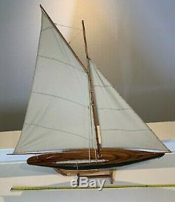 Grand Yacht, Bateau À Voile, Bateau Modèle Voilier 43in Bois Long X 42 De Haut
