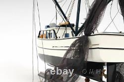 Gulf Crevette Trawler Louisiane Bateau De Travail De Pêche En Bois Modèle 25 Assemblé Nouveau