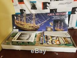 H. M. S. Hms Victory Panart 178 Échelle Made In Italy Modèle De Navire En Bois / Kit